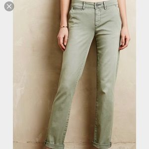 Anthropologie Pilcro Hyphen Chinos - olive / green